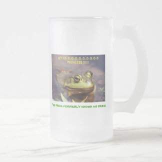 072606-3-FM THE FROG FORMERLY KNOWN AS PRINCE FROSTED GLASS BEER MUG