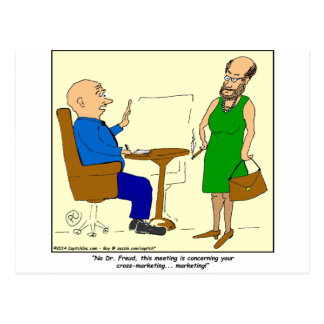 076 Freud cross-marketing cartoon Postcard