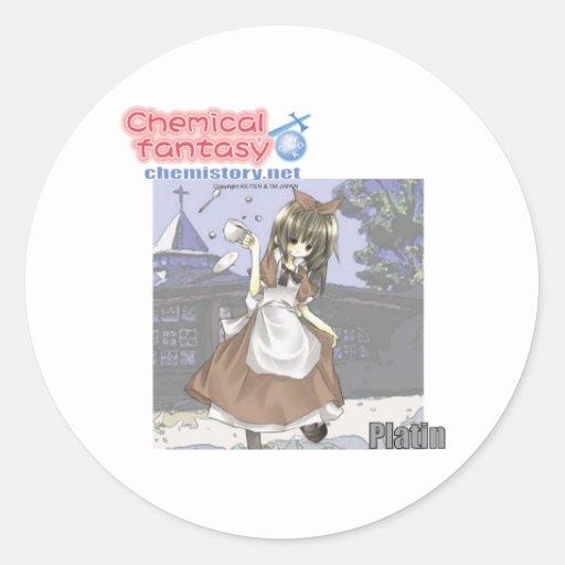 078 Platin de la fantasía química (platino) Pegatinas