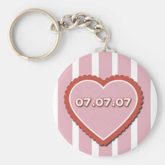 07/07/07 Lucky in Love Keychain