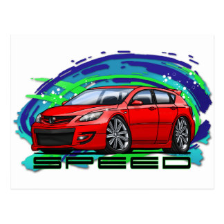 07-09 Speed3_Red Postcard