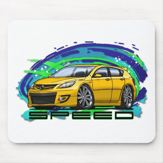 07-09 Speed3_Yellow Mouse Pad