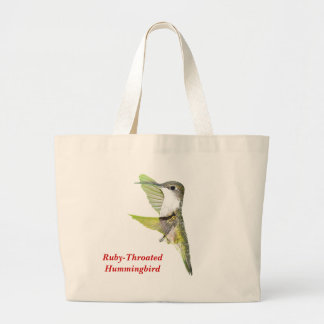 07-20-06 Hummingbirds0033ac, Humm Rubí-Throated… Bolsa Tela Grande