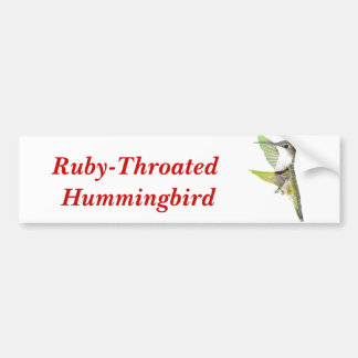 07-20-06 Hummingbirds0033ac, Ruby-Throated Humm... Bumper Sticker