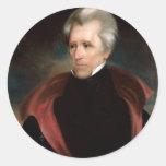 07 Andrew Jackson Etiqueta Redonda