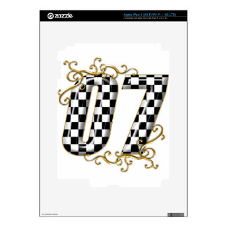 07 auto racing number iPad 3 decals