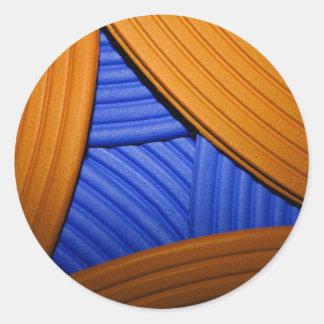 07 Blue & Orange Sticker