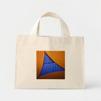 07 bolso azul y anaranjado de la pirámide bolsa