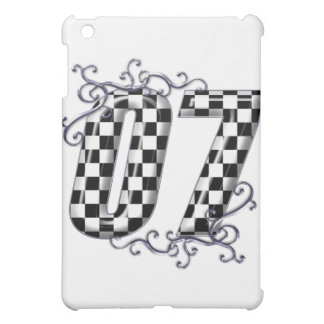 07 checkered flag number iPad mini covers