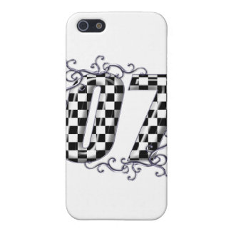 07 checkered flag number iPhone SE/5/5s case