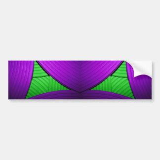 07 Green & Purple Bumper Sticker Car Bumper Sticker