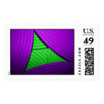 07 Green & Purple Large Postage Stamps