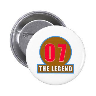 07 los diseños del cumpleaños de la leyenda pin