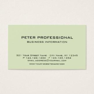 07 Modern Professional Business Card light green