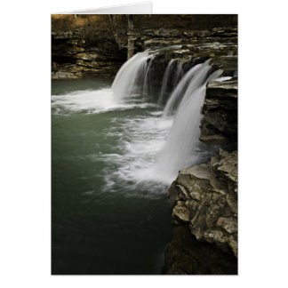 0804-0013 caídas descendentes 4 del agua tarjeta de felicitación