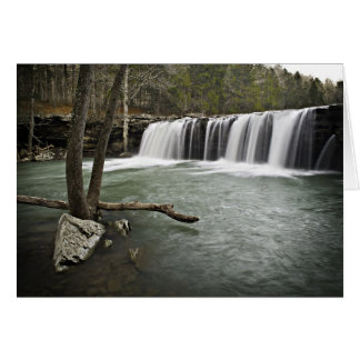 0805-0070 caídas descendentes 3 del agua tarjeta de felicitación