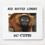 ¡080725 red-ruffed-02, ROJO SUPERARON LOS LEMURS,  Tapetes De Ratones