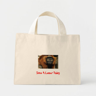 080725-red-ruffed-02, Save A Lemur Today Canvas Bag