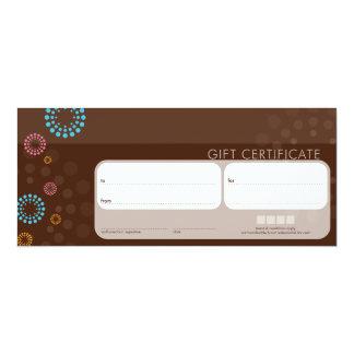 081 Frances :: GIFT CERTIFICATES :: retrospot 5 4x9.25 Paper Invitation Card
