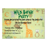 084, safari salvaje, fiesta, se unen a por favor invitación 12,7 x 17,8 cm