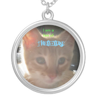 086, THEODORE!, I am a, fan of Round Pendant Necklace