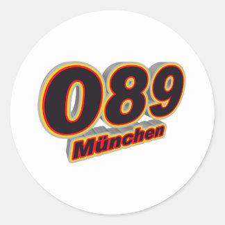 089 Muenchen Classic Round Sticker