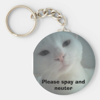 08-04-07_1734, Please spay and neuter Basic Round Button Keychain