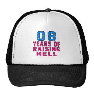 08 años de infierno de aumento gorros
