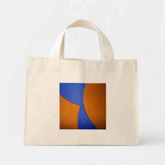 08 azul y naranja se nubla el bolso bolsa lienzo