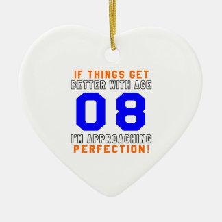 08 diseños del cumpleaños de la perfección adorno de cerámica en forma de corazón