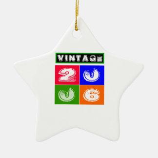 08 diseños del cumpleaños adorno de cerámica en forma de estrella