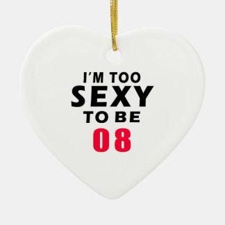 08 diseños del cumpleaños adorno de cerámica en forma de corazón