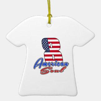 08 diseños del cumpleaños del alma del americano adorno de cerámica en forma de playera