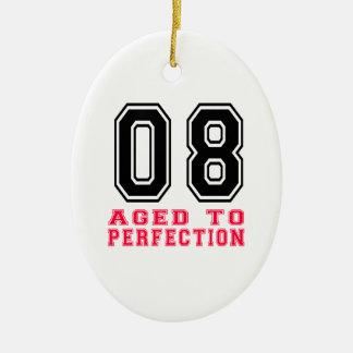 08 envejecido a la perfección adorno ovalado de cerámica