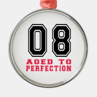 08 envejecido a la perfección adorno redondo plateado