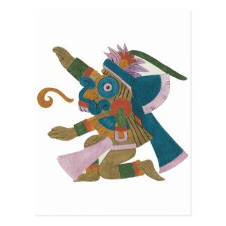 08.Tlaloc - Mayan /Aztec Creator good Postcards