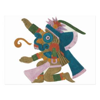 08.Tlaloc - Mayan /Aztec Creator good Postcard