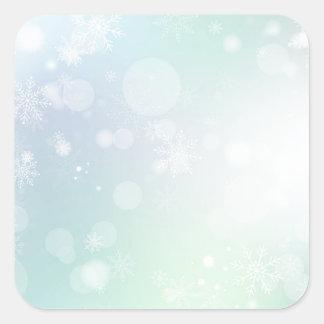 08 Winter Multicolor Snowflakes Square Sticker