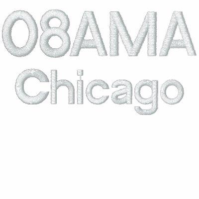 08AMA, Chicago Sudadera Bordada Con Capucha