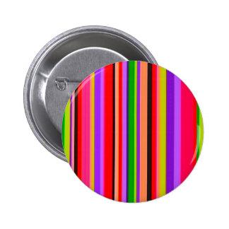 090106 NEON Bright STRIPES background pattern wall Pinback Button