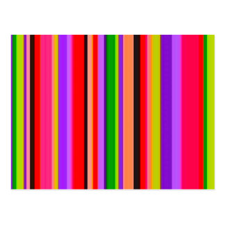 090106 NEON Bright STRIPES background pattern wall Post Cards