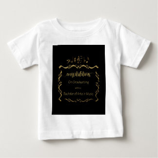 09066Bachelors of Arts in Music Graduating Baby T-Shirt