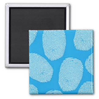 090906-investigation BLUE FINGERPRINTS DETECTIVE 2 Inch Square Magnet