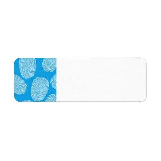 090906-investigation BLUE FINGERPRINTS DETECTIVE Return Address Labels