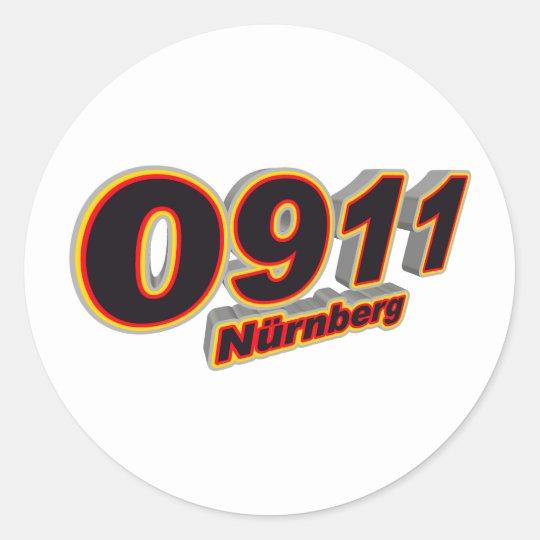 0911 Nuernberg Classic Round Sticker