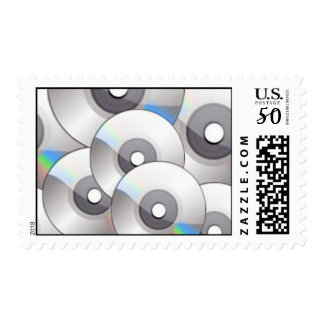 092106 cdrom CD music light greys white blue Postage