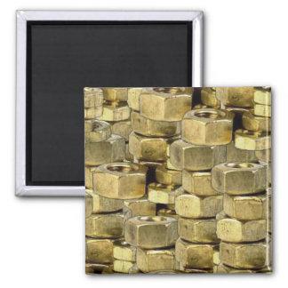 092106-nuts BLING GOLD TOUGH GANGSTER MECHANICS RA Magnet