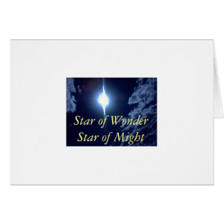 0925081441, Star of Wonder Star of Might Card