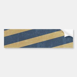 092 NAVY GOLD GRUNGE STRIPES SAILOR PATTERN MAN TE CAR BUMPER STICKER