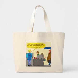 094 he swallowed a quarter 2016 cartoon large tote bag